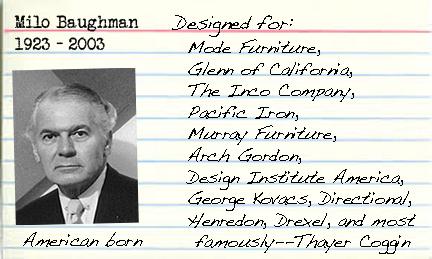 Milo Baughman card